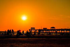 Praia de Clearwater Fotos de Stock Royalty Free