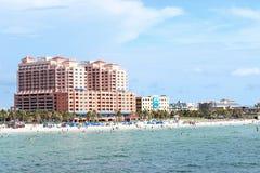 Praia de Clearwater do hotel de Hyatt Imagens de Stock Royalty Free