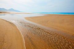 Praia de Cofete Fuerteventura em Ilhas Canárias Foto de Stock Royalty Free