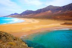 Praia de Cofete Fuerteventura em Ilhas Canárias Fotos de Stock