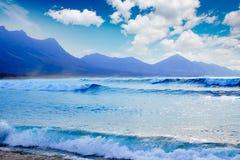Praia de Cofete Fuerteventura em Ilhas Canárias Imagem de Stock