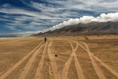 Praia de Cofete nas Ilhas Canárias de Fuerteventura Imagens de Stock Royalty Free