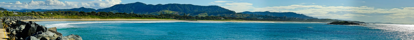 Praia de Coffs Harbour fotos de stock royalty free