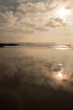 Praia de Combesgate Fotos de Stock Royalty Free