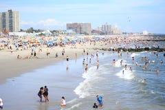 Praia de Coney Island Foto de Stock Royalty Free
