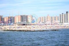 Praia de Coney Island Fotos de Stock Royalty Free