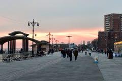 Praia de Coney Island - Brooklyn, New York foto de stock