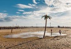 Praia de Coney Island em New York City Fotos de Stock Royalty Free