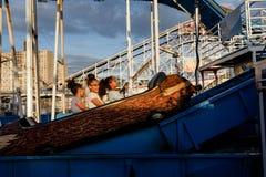Praia de Coney Island em NYC Imagem de Stock Royalty Free
