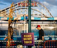 Praia de Coney Island em NYC Imagens de Stock Royalty Free