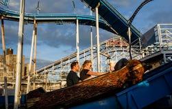 Praia de Coney Island em NYC Foto de Stock