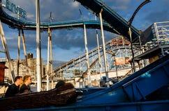 Praia de Coney Island em NYC Imagem de Stock