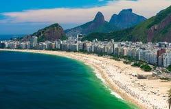 Praia de Copacabana em Rio de Janeiro Fotos de Stock Royalty Free