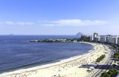 Praia de Copacabana, Rio de janeiro Fotografia de Stock