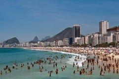 Praia de Copacabana, Rio de janeiro, Brasil imagens de stock