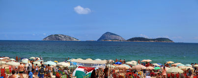 Praia de Copcabana Imagem de Stock Royalty Free