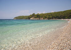 Praia de Corfu imagens de stock royalty free