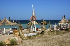 Praia de Corsaru em Vama Veche, Romênia imagem de stock royalty free