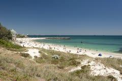 Praia de Cottesloe, Perth, Austrália Ocidental Fotos de Stock Royalty Free