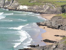 Praia de Coumeenole, península do Dingle, Ireland Fotografia de Stock