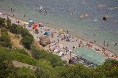 Praia de Crimeia foto de stock
