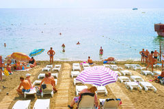 Praia de Crimeia do verão Foto de Stock