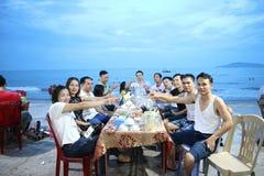 Praia de Cua Lo, Vietname foto de stock