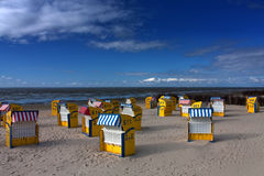 Praia de Cuxhaven Fotos de Stock Royalty Free