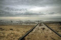 Praia de Cuxhaven, Alemanha fotografia de stock