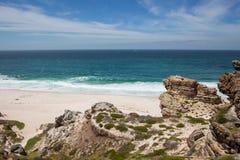 Praia de Díaz tomada da parte superior do penhasco imagem de stock
