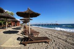 Praia de Daitona, Marbella, Spain. Fotos de Stock Royalty Free