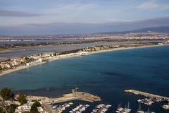 A praia de di Cagliari de Poetto Fotografia de Stock Royalty Free