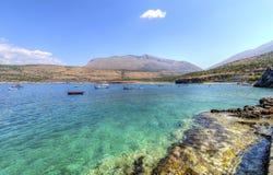 Praia de Diros, Grécia foto de stock royalty free