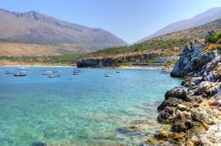Praia de Diros, Grécia imagem de stock royalty free