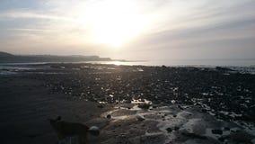 Praia de Doniford em um dia de inverno frio Foto de Stock