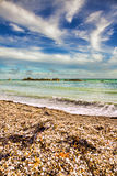 Praia de Dorset Imagens de Stock Royalty Free