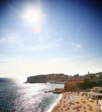 Praia de Dubrovnik fotografia de stock