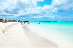 Praia de Eagle na ilha de Aruba Imagem de Stock