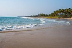 Praia de Edava Vettakkada, perto de Varkala, Kerala Imagem de Stock