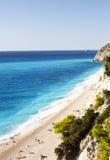 Praia de Egremni Imagem de Stock
