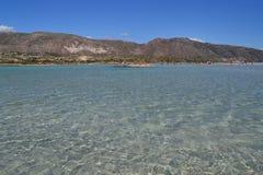 Praia de Elafonisi, Creta, Grécia Fotos de Stock