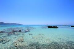 Praia de Elafonisi da Creta Foto de Stock Royalty Free