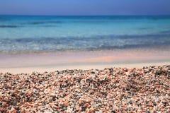Praia de Elafonisi da Creta Imagem de Stock