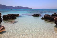 Praia de Elafonisi da Creta Fotografia de Stock