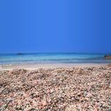 Praia de Elafonisi da Creta Foto de Stock