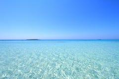 Praia de Elafonisi da Creta Fotos de Stock Royalty Free