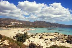 Praia de Elafonissi imagem de stock royalty free