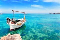 Praia de Els Pujols em Formentera Fotografia de Stock Royalty Free