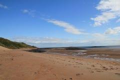 Praia de Embleton, olhando norte Foto de Stock Royalty Free