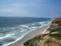 Praia de estado dos pinhos de Torrey fotos de stock
